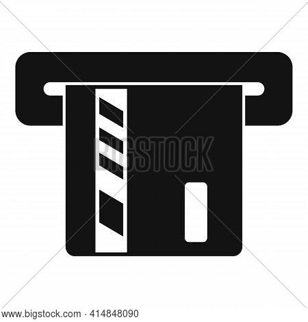 Atm Credit Card Icon. Simple Illustration Of Atm Credit Card Vector Icon For Web Design Isolated On