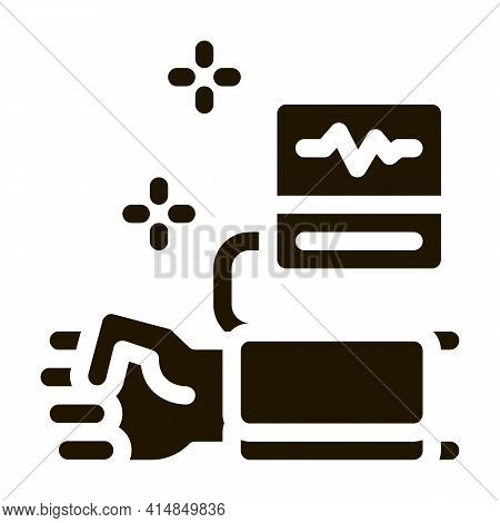 Blood Pressure Measurement Glyph Icon Vector. Blood Pressure Measurement Sign. Isolated Symbol Illus