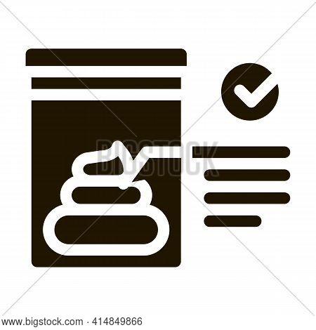 Feces In Vitro Test Glyph Icon Vector. Feces In Vitro Test Sign. Isolated Symbol Illustration