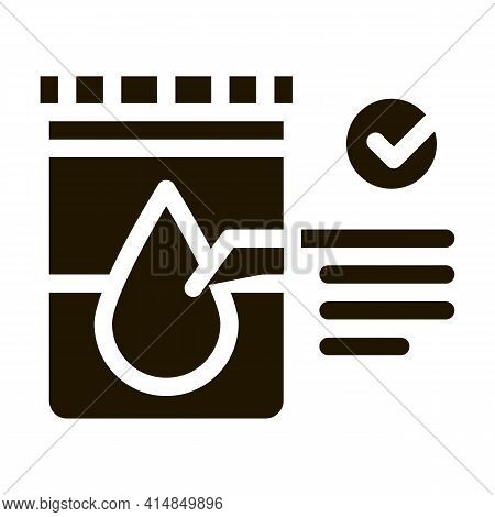 Regular Urine Test In Vitro Glyph Icon Vector. Regular Urine Test In Vitro Sign. Isolated Symbol Ill