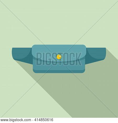 Waist Bag Accessory Icon. Flat Illustration Of Waist Bag Accessory Vector Icon For Web Design