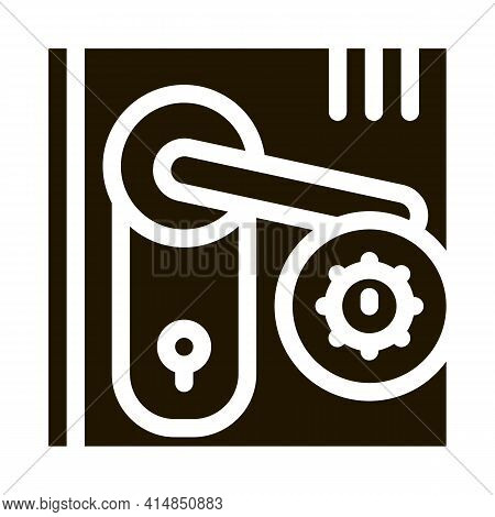 Pests In Keyhole Glyph Icon Vector. Pests In Keyhole Sign. Isolated Symbol Illustration