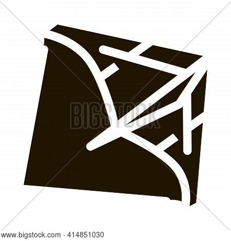 View Of Air Launch Aircraft Glyph Icon Vector. View Of Air Launch Aircraft Sign. Isolated Symbol Ill