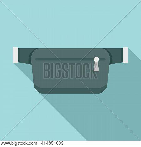 Belt Waist Bag Icon. Flat Illustration Of Belt Waist Bag Vector Icon For Web Design