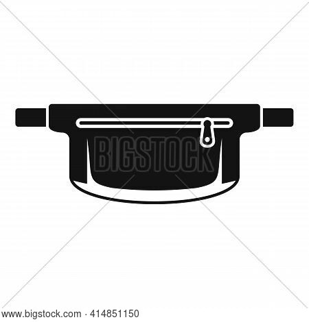 Waist Handbag Icon. Simple Illustration Of Waist Handbag Vector Icon For Web Design Isolated On Whit