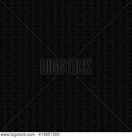 Dark Hexagon Square Background. Hexagon Pattern . Vector Illustration