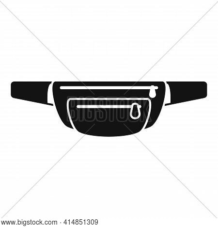 Waist Bag Luggage Icon. Simple Illustration Of Waist Bag Luggage Vector Icon For Web Design Isolated