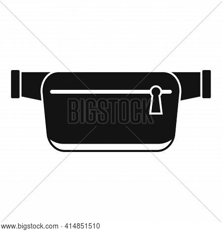 Belt Waist Bag Icon. Simple Illustration Of Belt Waist Bag Vector Icon For Web Design Isolated On Wh