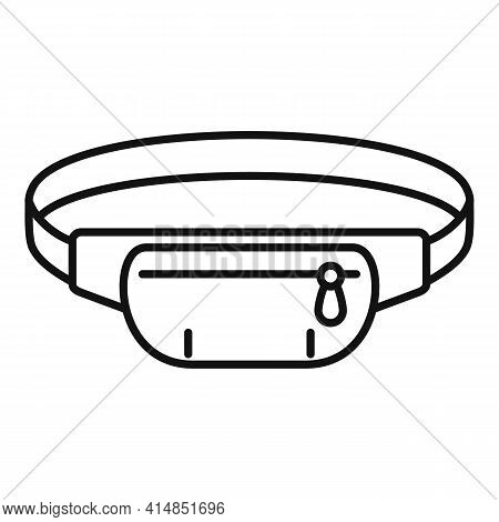 Waist Handbag Icon. Outline Waist Handbag Vector Icon For Web Design Isolated On White Background