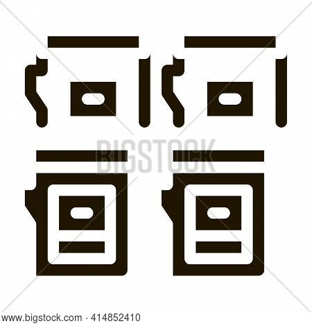 Color Cartridges Glyph Icon Vector. Color Cartridges Sign. Isolated Symbol Illustration