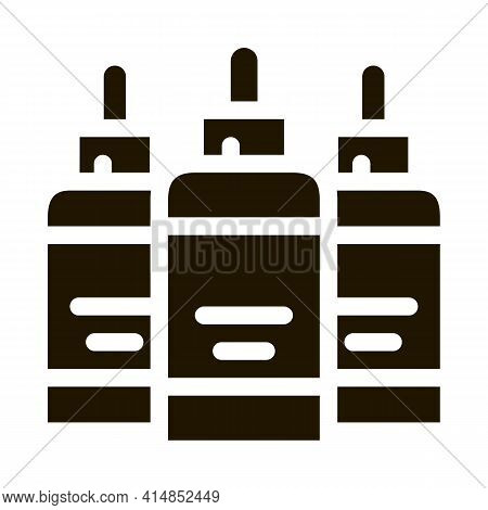 Paint Cans Glyph Icon Vector. Paint Cans Sign. Isolated Symbol Illustration