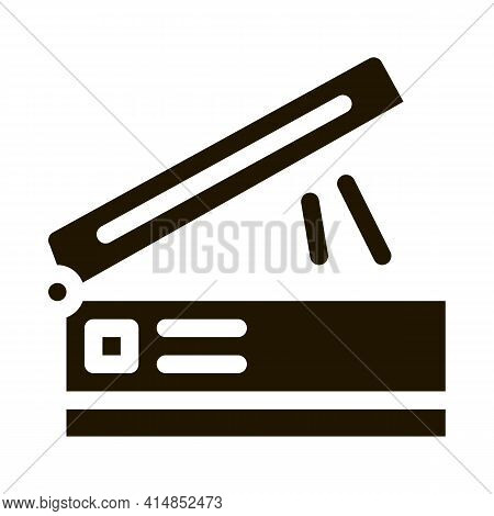Scanner For Work Glyph Icon Vector. Scanner For Work Sign. Isolated Symbol Illustration
