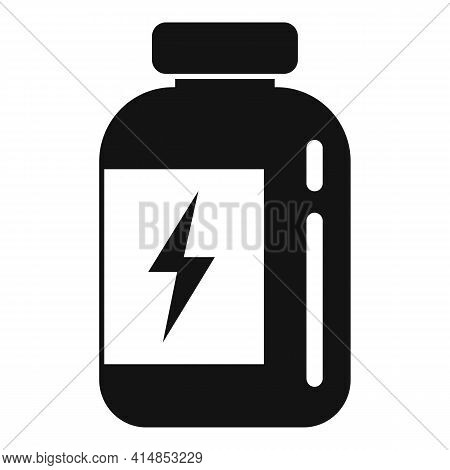 Gym Protein Jar Icon. Simple Illustration Of Gym Protein Jar Vector Icon For Web Design Isolated On