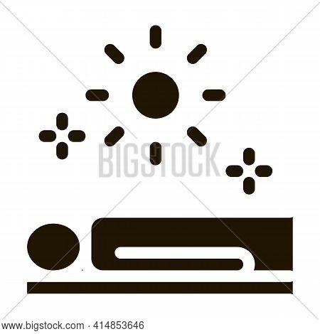 Application Sun Bath Glyph Icon Vector. Application Sun Bath Sign. Isolated Symbol Illustration