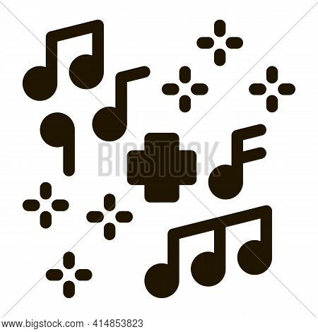 Healing Music Glyph Icon Vector. Healing Music Sign. Isolated Symbol Illustration