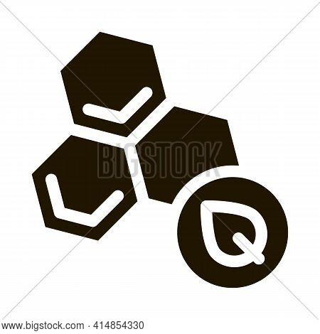 Herbal Honey Glyph Icon Vector. Herbal Honey Sign. Isolated Symbol Illustration