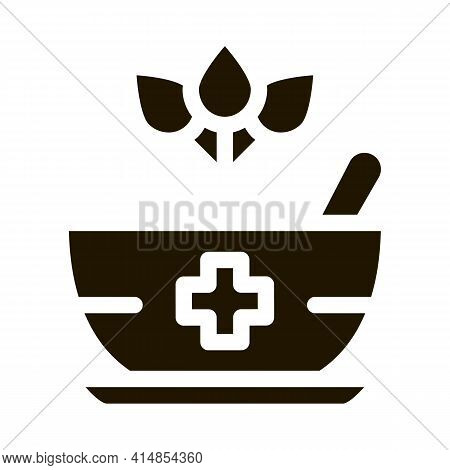 Medical Treatment Bowl Glyph Icon Vector. Medical Treatment Bowl Sign. Isolated Symbol Illustration