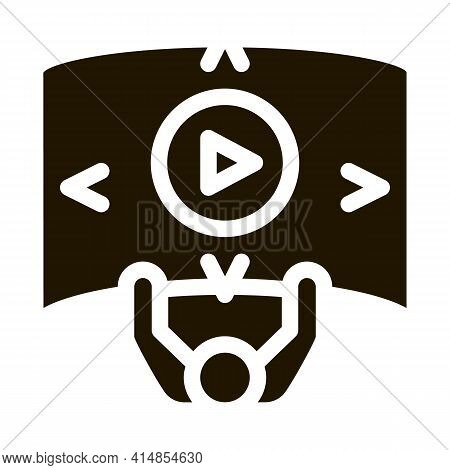 Comprehensive Choice Man Glyph Icon Vector. Comprehensive Choice Man Sign. Isolated Symbol Illustrat