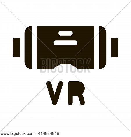 Virtual Reality Glasses Glyph Icon Vector. Virtual Reality Glasses Sign. Isolated Symbol Illustratio