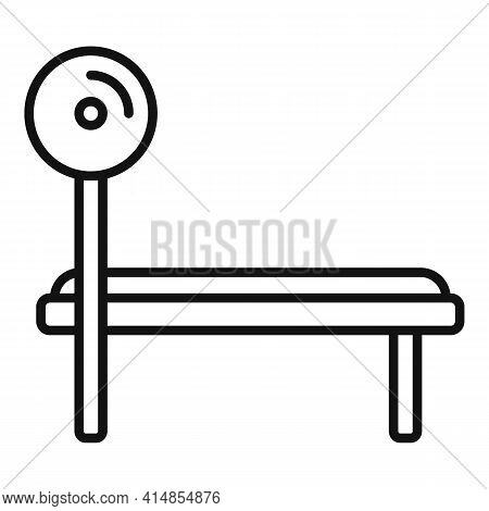 Gym Bench Icon. Outline Gym Bench Vector Icon For Web Design Isolated On White Background