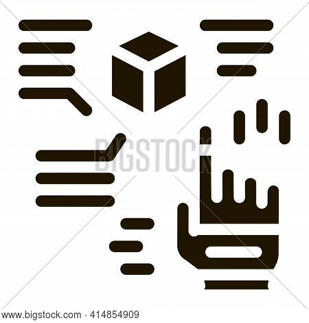 Function Parsing Glyph Icon Vector. Function Parsing Sign. Isolated Symbol Illustration