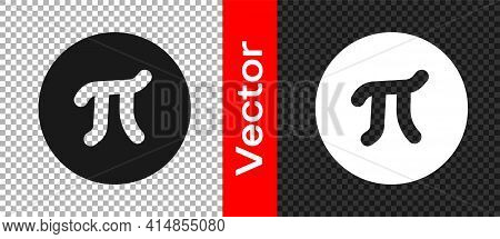 Black Pi Symbol Icon Isolated On Transparent Background. Vector