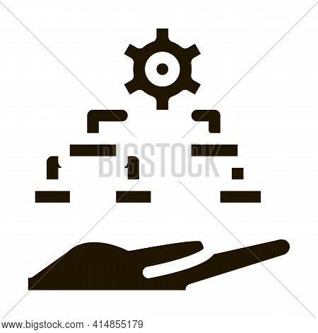 Settings Algorithm Glyph Icon Vector. Settings Algorithm Sign. Isolated Symbol Illustration