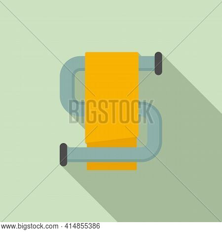 Heated Towel Rail Icon. Flat Illustration Of Heated Towel Rail Vector Icon For Web Design