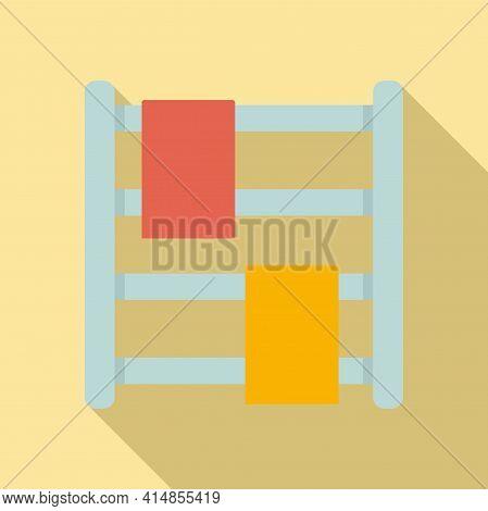 Bath Heated Towel Rail Icon. Flat Illustration Of Bath Heated Towel Rail Vector Icon For Web Design
