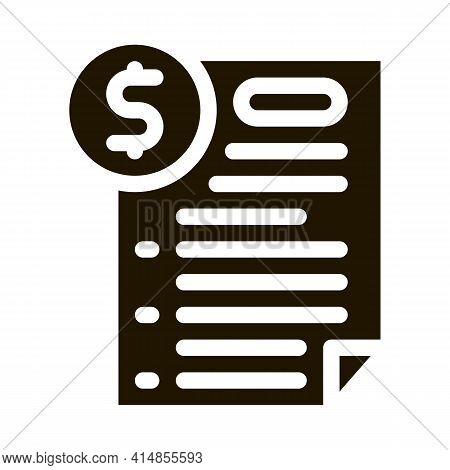 Monetary Agreement Glyph Icon Vector. Monetary Agreement Sign. Isolated Symbol Illustration