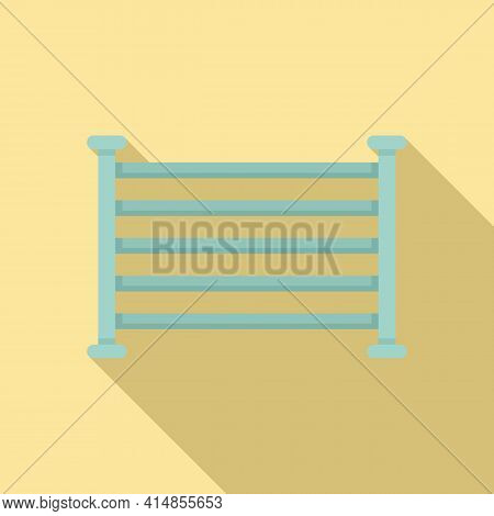 Electric Heated Towel Rail Icon. Flat Illustration Of Electric Heated Towel Rail Vector Icon For Web
