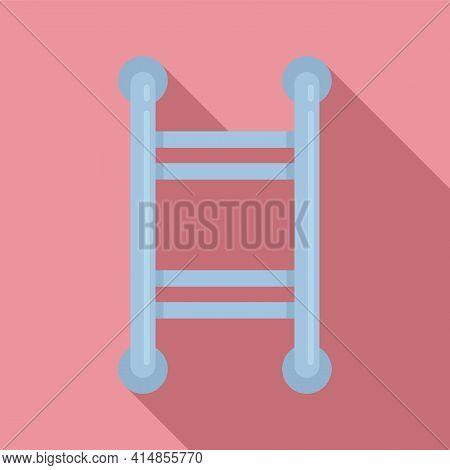 Device Heated Towel Rail Icon. Flat Illustration Of Device Heated Towel Rail Vector Icon For Web Des