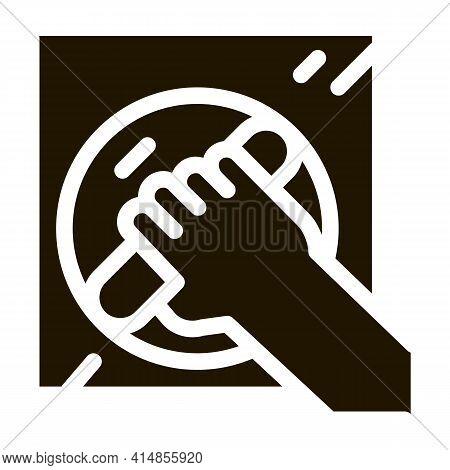 Window Control Handle Glyph Icon Vector. Window Control Handle Sign. Isolated Symbol Illustration