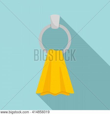 Dry Heated Towel Rail Icon. Flat Illustration Of Dry Heated Towel Rail Vector Icon For Web Design