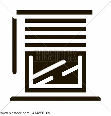 Window With Shutters Glyph Icon Vector. Window With Shutters Sign. Isolated Symbol Illustration