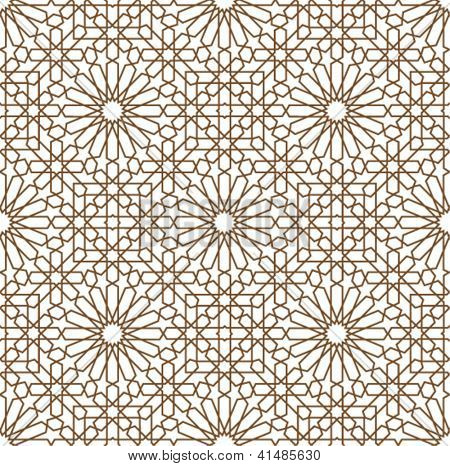 background with a seamless pattern in Arabian style