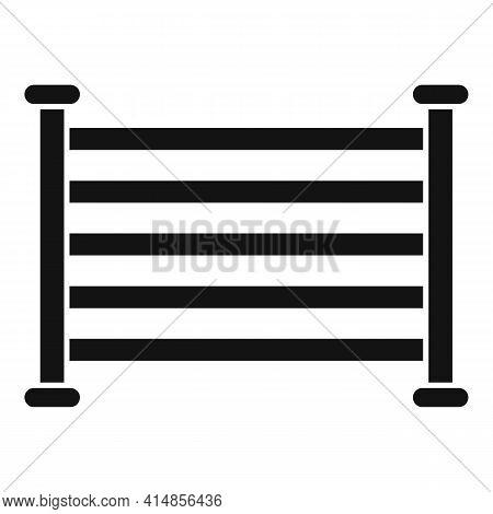 Electric Heated Towel Rail Icon. Simple Illustration Of Electric Heated Towel Rail Vector Icon For W
