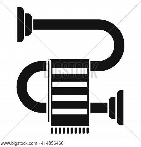 Hot Heated Towel Rail Icon. Simple Illustration Of Hot Heated Towel Rail Vector Icon For Web Design