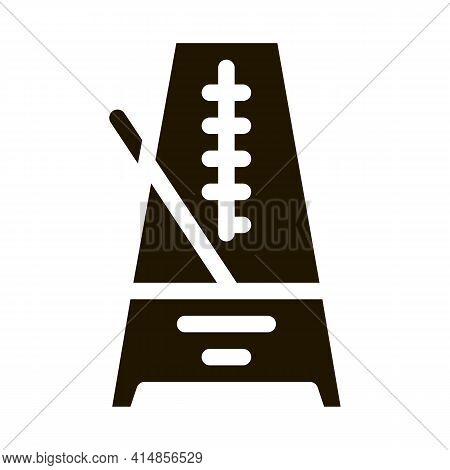 Rhythm Metronome Glyph Icon Vector. Rhythm Metronome Sign. Isolated Symbol Illustration