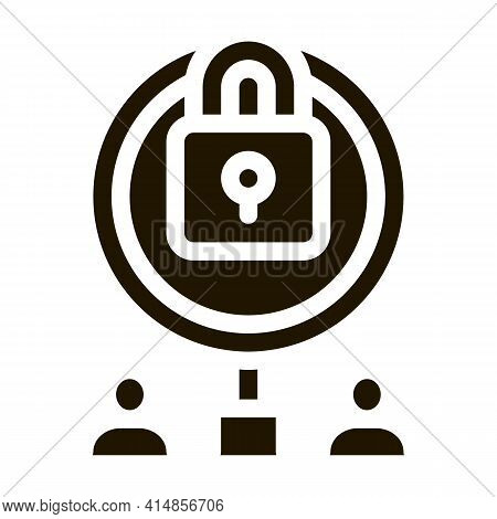 Closure Of Knowledge For Research Glyph Icon Vector. Closure Of Knowledge For Research Sign. Isolate