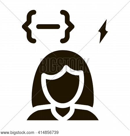 Emotionally Unstable Woman Glyph Icon Vector. Emotionally Unstable Woman Sign. Isolated Symbol Illus