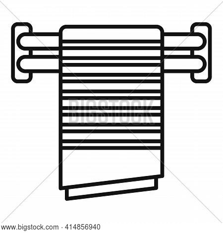 Cloth Heated Towel Rail Icon. Outline Cloth Heated Towel Rail Vector Icon For Web Design Isolated On