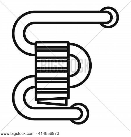 Home Heated Towel Rail Icon. Outline Home Heated Towel Rail Vector Icon For Web Design Isolated On W