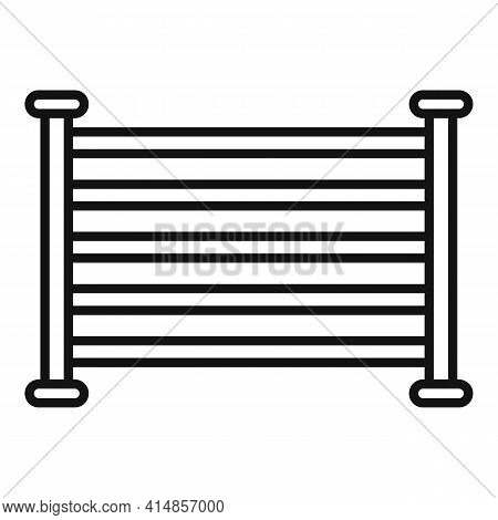 Electric Heated Towel Rail Icon. Outline Electric Heated Towel Rail Vector Icon For Web Design Isola
