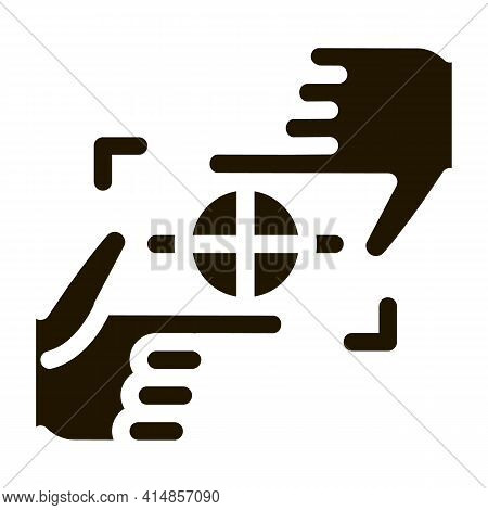 Target Focusing Glyph Icon Vector. Target Focusing Sign. Isolated Symbol Illustration