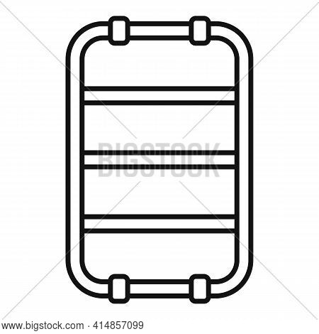 Equipment Heated Towel Rail Icon. Outline Equipment Heated Towel Rail Vector Icon For Web Design Iso