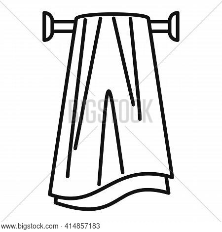 Pile Heated Towel Rail Icon. Outline Pile Heated Towel Rail Vector Icon For Web Design Isolated On W