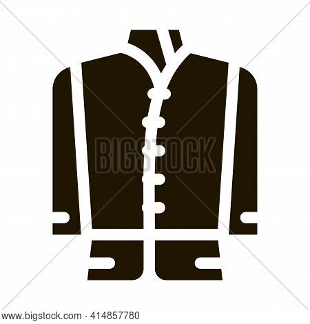 Kind Of National Men Costume Glyph Icon Vector. Kind Of National Men Costume Sign. Isolated Symbol I