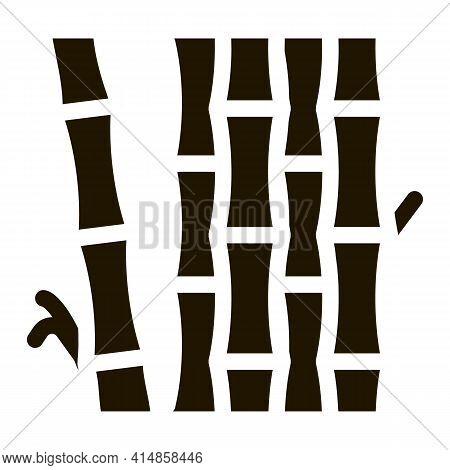 Bamboo Stalks Glyph Icon Vector. Bamboo Stalks Sign. Isolated Symbol Illustration