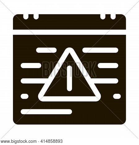 Last Work Month On Calendar Glyph Icon Vector. Last Work Month On Calendar Sign. Isolated Symbol Ill